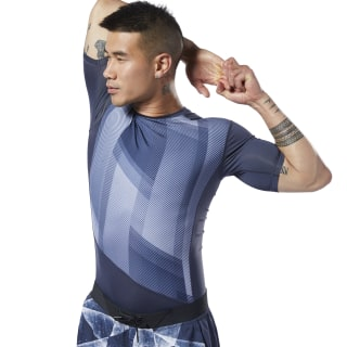 One Series Training Compression Tee Heritage Navy EC0956