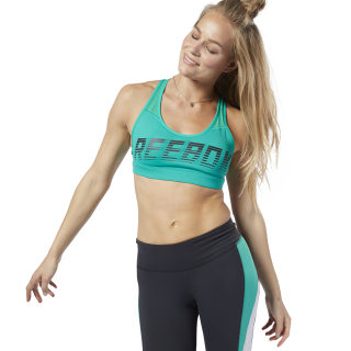Hero Strappy Medium-Impact Padded Bra Emerald EB8161