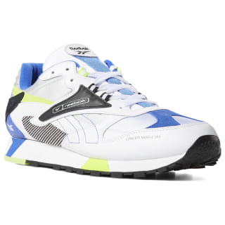 Classic Leather ATI 90s White / Black / Neon Lime / Cobalt DV6258