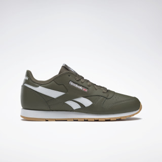 Classic Leather Army Green / White DV9610