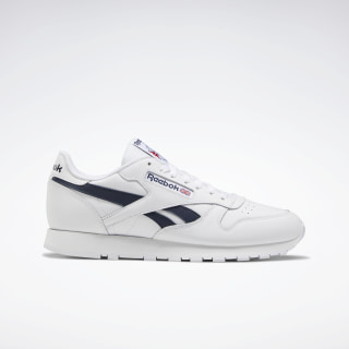 Classic Leather Shoes White / Collegiate Navy / Excellent Red FX1367