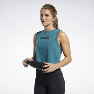 RC Crop Read Tee Heritage Teal Mel FK4397
