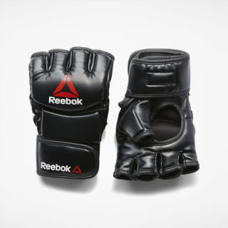 Combat Leather MMA Glove - Small Black / Red BH7248