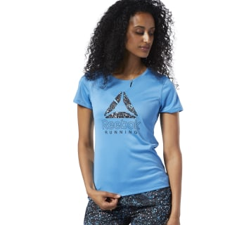 Running Essentials Graphic Tee Cyan EC2993
