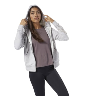 Bluza Training Essentials Marble Logo Full Zip Parchment CY3600
