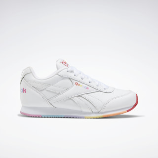 Reebok Royal Classic Jogger 2 Shoes - Preschool White / Radiant Red / Sunbaked Orange EH0981