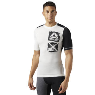 ACTIVCHILL Graphic Compression Tee Chalk BR9570