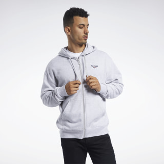 Толстовка CL F VECTOR FULLZIP light grey heather FK2676