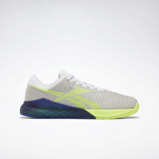 Reebok Nano 9 Women's Training Shoes White / Neon Lime / Deep Cobalt EG3296