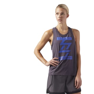 LES MILLS BODYCOMBAT Performance Tank Purple CD6224