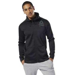 Sweat à capuche à zip intégral Training Spacer Black DU3978