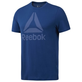 GRAPHIC TEE SHORT SLEEVE QQR- Reebok Stacked bunker blue DH3753