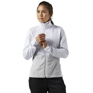 Outdoor Combed Fleece Jacket White S96421