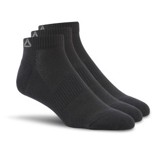 Sport Essentials Unisex No Show Sock - 3pack Black AJ6239