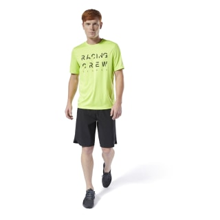 T-shirt Run Essentials Crewneck Neon Lime DW6048