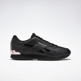 Reebok Royal Glide Ripple Clip Shoes Black / Rose Gold / Pearlized DV6704