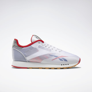 Classic Leather ATI Shoes White / Washed Blue / Primal Red EH0128