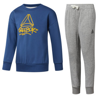 Boys' Essentials French Terry Tracksuit Bunker Blue DH4339