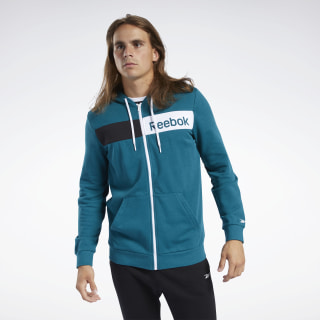 Training Essentials Linear Logo Hoodie Heritage Teal FJ4696