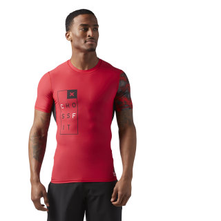 Reebok CrossFit Compression T-Shirt Primal Red CD4496
