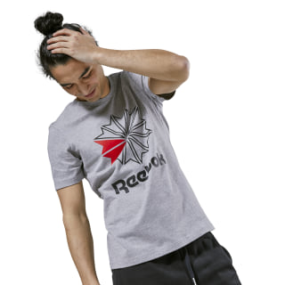 Reebok Classics Graphic T-Shirt Medium Grey Heather / Black DH2073