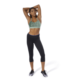 Hero Strappy Bra - Placed Print Industrial Green D93848