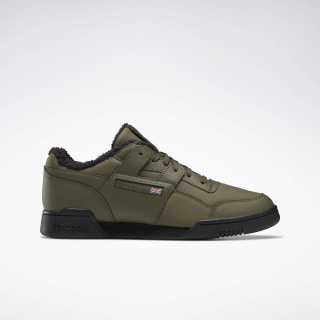 Кроссовки Reebok Workout Plus army green/black/NONE FU7818