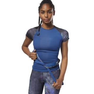 ACTIVCHILL Compression Short Sleeve Tee - Oil Slick Bunker Blue D93885