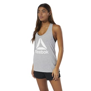 WOR Supremium Logo Tank Top Medium Grey Heather DP6690