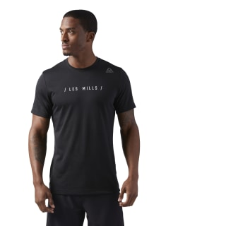 LES MILLS Dual Blend T-Shirt Black CD6185