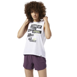 Stop Apologizing Muscle Tank Top White DU4639