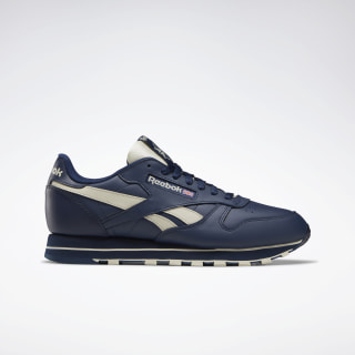 Classic Leather Collegiate Navy / Alabaster DV8738