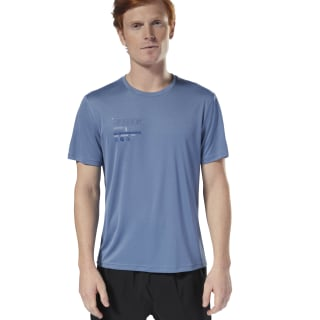 Remera Running Graphic blue slate D92337