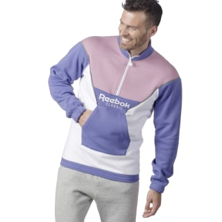 Sweat unisexe Classics R avec demi-zip Lilac Shadow DX0136