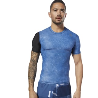 T-shirt Reebok CrossFit Short Sleeve Compression Bunker Blue CY4968