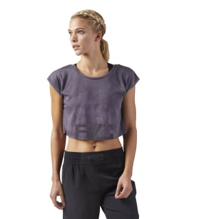 Combat Spray Dye Crop T-Shirt Purple Fog CD3833