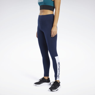 Legginsy Training Essentials Linear Logo Collegiate Navy FR8153