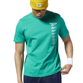Playera Classic Leather V P emerald EB3610