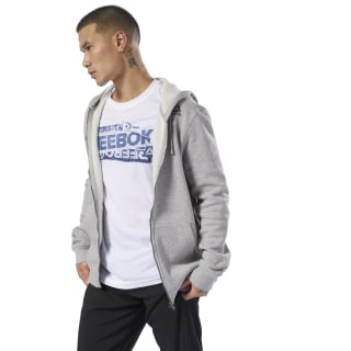 Sweat à capuche molletonné avec zip intégral Elements Medium Grey Heather D94204