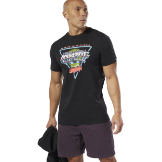 Reebok CrossFit® Neon Retro Tee Black DP6211