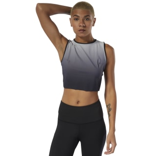 Yoga Ombre Crop Tank Top Black DU4483