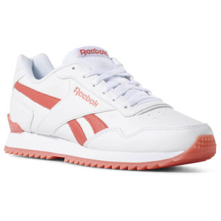 Reebok Royal Glide Ripple Clip White / Bright Rose CN7401