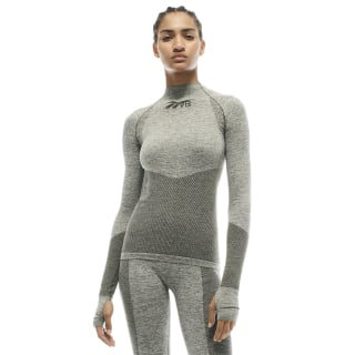 VB Seamless Textured Long Sleeve Top Poplar Green FM3528