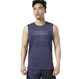 T-shirt LES MILLS® ACTIVCHILL Vent Heritage Navy ED0610