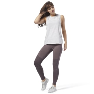 Training Essentials Colour Block Marble Leggings Purple CY3603