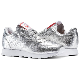 Tenis Classic Leather HD SILVER MET/SNOWY GREY/PRIMAL RED/WHITE BS5115