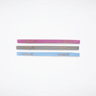 Sports Hair Bands - Metallic Blue, Berry, Grey (3 pack) Grey CL5537