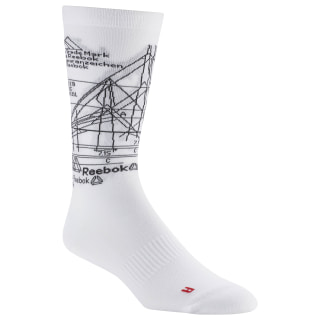 Active Enhanced Crew Socks White DU3028