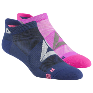 Reebok Performance Low Cut Socks - 2 Pack Navy / Pink CL5159