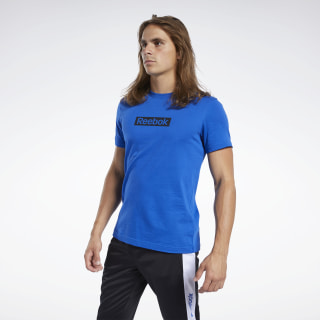 Camiseta Training Essentials Linear Logo Humble Blue FK6168
